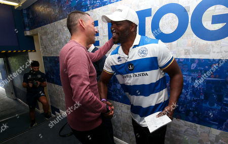 Stock Image of QPR Commercial and Marketing - Mark Prince in the QPR tunnel with Colin Murray