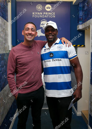 QPR Commercial and Marketing - Mark Prince in the QPR tunnel with Colin Murray