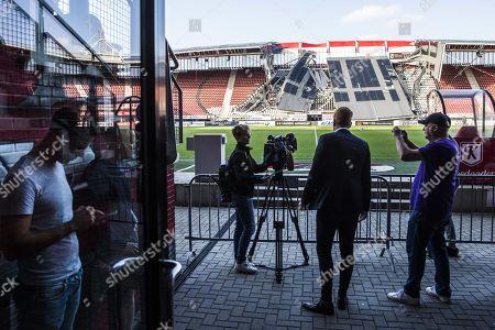 AFAS Stadium roof collapsed Alkmaar Stock Photos (Exclusive