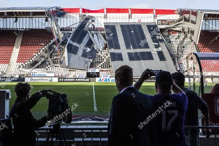 AFAS Stadium roof collapsed Alkmaar Stock Photos (Exclusive