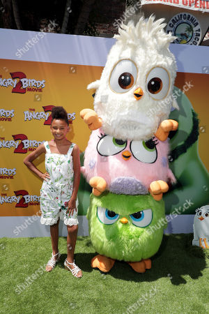Genesis Tennon and Hatchlings at the Premiere of Columbia Pictures and Rovio Animations 'The Angry Birds Movie 2' at Regency Village Theatre, in theaters Tuesday, August 13'