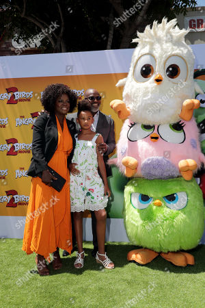 Viola Davis, Genesis Tennon, Julius Tennon and Hatchlings at the Premiere of Columbia Pictures and Rovio Animations 'The Angry Birds Movie 2' at Regency Village Theatre, in theaters Tuesday, August 13'