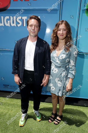 Beck Bennett and Jessy Hodges at the Premiere of Columbia Pictures and Rovio Animations 'The Angry Birds Movie 2' at Regency Village Theatre, in theaters Tuesday, August 13'