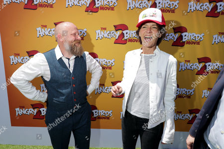 Thurop Van Orman, Director, and Kristine Belson, President, Sony Pictures Animation, at the Premiere of Columbia Pictures and Rovio Animations 'The Angry Birds Movie 2' at Regency Village Theatre, in theaters Tuesday, August 13'