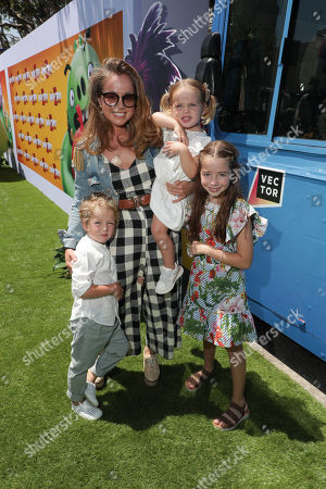 Marcela Valladolid and family at the Premiere of Columbia Pictures and Rovio Animations 'The Angry Birds Movie 2' at Regency Village Theatre, in theaters Tuesday, August 13'