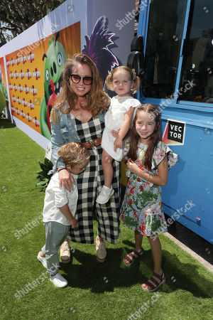 Stock Image of Marcela Valladolid and family at the Premiere of Columbia Pictures and Rovio Animations 'The Angry Birds Movie 2' at Regency Village Theatre, in theaters Tuesday, August 13'