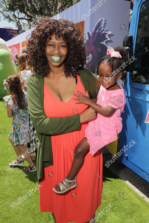 GloZell Green and O'Zell Gloriana De Green Simon at the Premiere of Columbia Pictures and Rovio Animations' 'The Angry Birds Movie 2' at Regency Village Theatre, in theaters Tuesday, August 13'