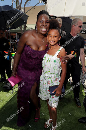 Leslie Jones and Genesis Tennon at the Premiere of Columbia Pictures and Rovio Animations' 'The Angry Birds Movie 2' at Regency Village Theatre, in theaters Tuesday, August 13'