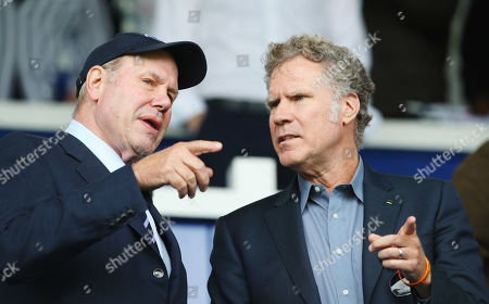 Stock Photo of Portsmouth's Chairman Michael Eisner and Will Ferrell