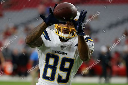 Los Angeles Chargers wide receiver Jason Moore (89) during the first half of an NFL preseason football game against the Arizona Cardinals, in Glendale, Ariz