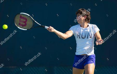 Carla Suarez Navarro of Spain during practice