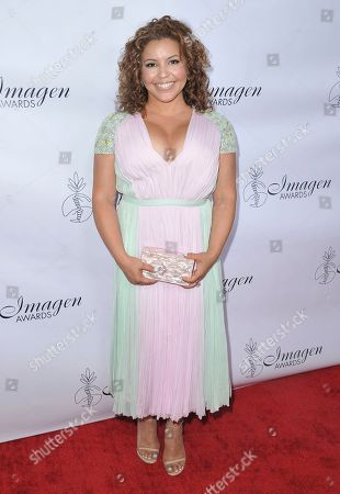 Justina Machado arrives at the 34th annual Imagen Awards, at the Beverly Wilshire Hotel in Beverly Hills, Calif