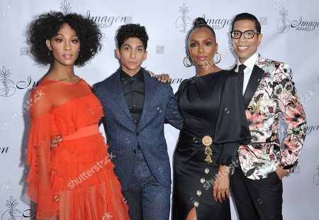 Mj Rodriguez, Angel Bismark Curiel, Janet Mock, Steven Canals. Mj Rodriguez, from left, Angel Bismark Curiel, Janet Mock and Steven Canals arrive at the 34th annual Imagen Awards, at the Beverly Wilshire Hotel in Beverly Hills, Calif