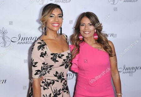 Christina Vidal, Lisa Vidal. Christina Vidal, left, ad Lisa Vidal arrive at the 34th annual Imagen Awards, at the Beverly Wilshire Hotel in Beverly Hills, Calif