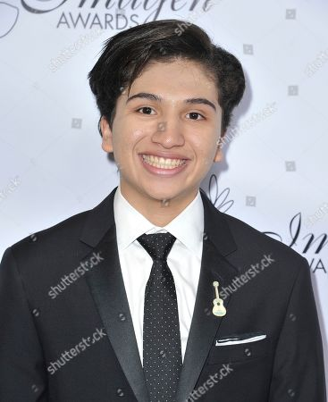 Anthony Gonzalez arrives at the 34th annual Imagen Awards, at the Beverly Wilshire Hotel in Beverly Hills, Calif