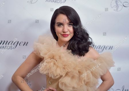Lilimar arrives at the 34th annual Imagen Awards, at the Beverly Wilshire Hotel in Beverly Hills, Calif