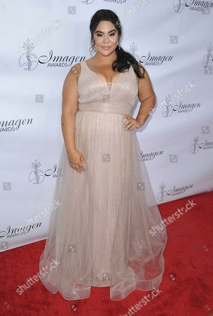 Jessica Marie Garcia arrives at the 34th annual Imagen Awards, at the Beverly Wilshire Hotel in Beverly Hills, Calif