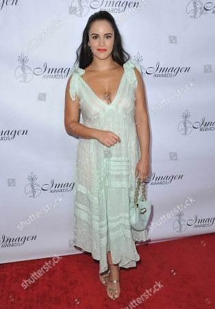 Stock Photo of Melissa Fumero arrives at the 34th annual Imagen Awards, at the Beverly Wilshire Hotel in Beverly Hills, Calif