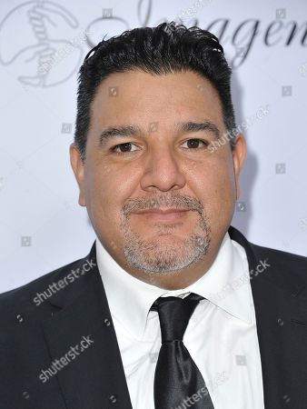 Stock Image of Cris Abrego arrives at the 34th annual Imagen Awards, at the Beverly Wilshire Hotel in Beverly Hills, Calif