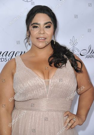Stock Photo of Jessica Marie Garcia arrives at the 34th annual Imagen Awards, at the Beverly Wilshire Hotel in Beverly Hills, Calif