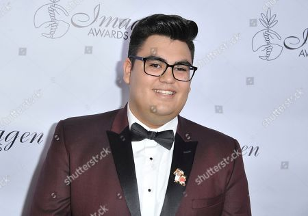 Stock Photo of Sean-Ryan Petersen arrives at the 34th annual Imagen Awards, at the Beverly Wilshire Hotel in Beverly Hills, Calif