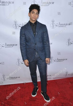 Angel Bismark Curiel arrives at the 34th annual Imagen Awards, at the Beverly Wilshire Hotel in Beverly Hills, Calif