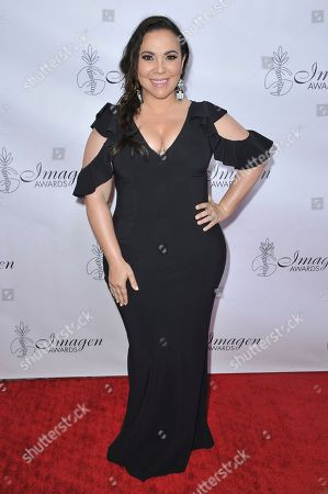 Gloria Calderon Kellett arrives at the 34th annual Imagen Awards, at the Beverly Wilshire Hotel in Beverly Hills, Calif
