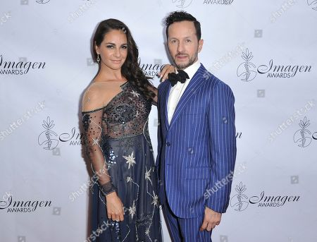 Stock Picture of Paulina Madrazo, Oscar Madrazo. Paulina Madrazo, left, and Oscar Madrazo arrive at the 34th annual Imagen Awards, at the Beverly Wilshire Hotel in Beverly Hills, Calif