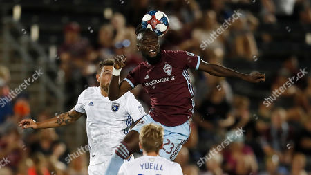 R m. Colorado Rapids forward Kei Kamara (23) in the second half of an MLS soccer match, in Commerce City, Colo. The Rapids won 2-1