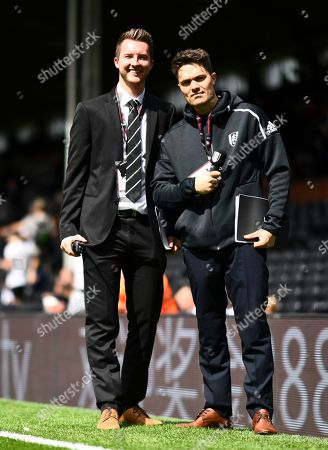 Club announcer Ivan Berry poses for a photo with Marketing Manager Jordan Hayes