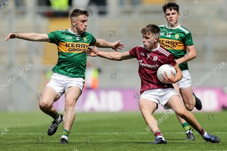 Stock Image of Kerry vs Galway . Galway's Kyle O'Neill and Adam Curran of Kerry