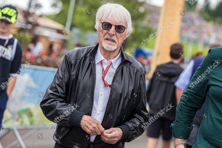 Former Formula One chairman Bernie Ecclestone of Britain arrives at the MotoGP of Austria at the Red Bull Ring