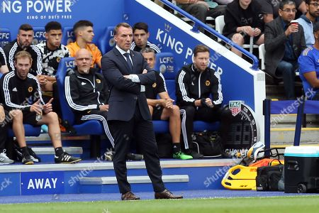 Leicester City manager Brendan Rogers during Leicester City vs Wolverhampton Wanderers, Premier League Football at the King Power Stadium on 11th August 2019