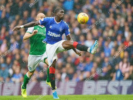 Stock Picture of Sheyi Ojo of Rangers & David Gray of Hibernian