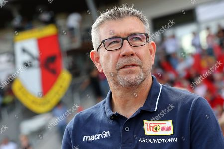 Union's head coach Urs Fischer during the German DFB Cup first round soccer match between VfB Germania Halberstadt and FC Union Berlin at the Friedensstadion in Halberstadt, Germany, 11 August 2019.