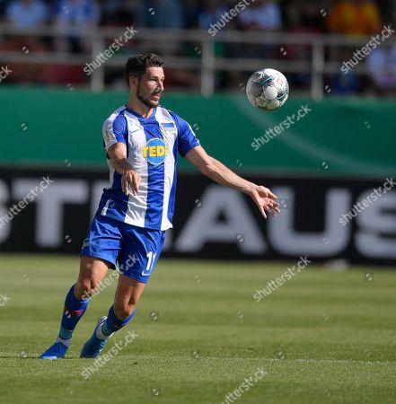 11.08.2019, Football DFB-Pokal 2019/2020, 1.round, VfB Eichstaett - Hertha BSc Berlin, Audi-Sportpark Ingolstadt, Mathew Leckie (Hertha BSC Berlin)