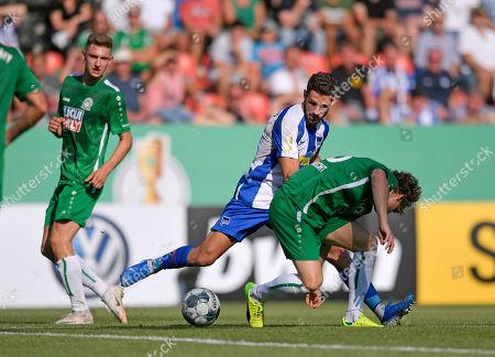 11.08.2019, Football DFB-Pokal 2019/2020, 1.round, VfB Eichstaett - Hertha BSc Berlin, Audi-Sportpark Ingolstadt, middle: Mathew Leckie (Hertha BSC Berlin)