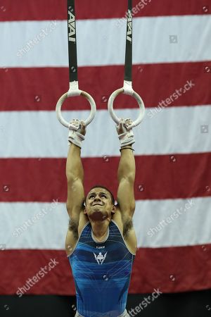 Gymnast Trevor Howard competes during day two of the US Gymnastics Championships, held in Kansas City, MO. Melissa J