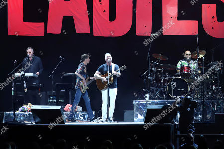Jim Creeggan, Kevin Hearn, Ed Robertson, Tyler Stewart. Kevin Hearn, from left, Jim Creeggan, Ed Robertson and Tyler Stewart of the Barenaked Ladies perform at Madison Square Garden, in New York