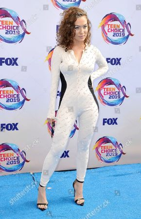 Jude Demorest arrives at the Teen Choice Awards, in Hermosa Beach, Calif