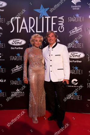 Stock Image of Prince Hubertus of Hohenlohe-Langenburg (R) arrives to the Marbella's Starlite Festival charity gala held in Malaga, southern Spain, 11 August 2019.