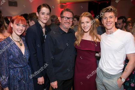 Cordelia Braithwaite (Juliet), Paris Fitzpatrick (Romeo), Matthew Bourne (Director/Choreographer), Seren Williams (Juliet) and Andy Monaghan (Romeo)