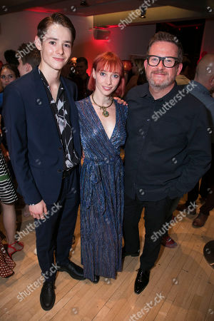 Paris Fitzpatrick (Romeo), Cordelia Braithwaite (Juliet) and Matthew Bourne (Director/Choreographer)