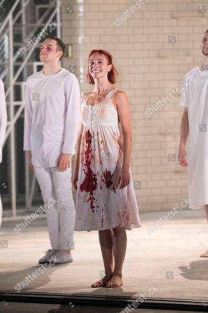Cordelia Braithwaite (Juliet) during the curtain call