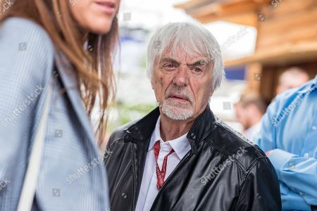 Former Formula One chairman Bernie Ecclestone of Britain arrives at the MotoGP of Austria at the Red Bull Ring in Spielberg, Austria, 11 August 2019.