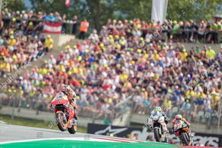 German MotoGP rider Stefan Bradl of Repsol Honda Team during th race for the MotoGP of Austria at the Red Bull Ring in Spielberg, Austria, on August 11, 2019.