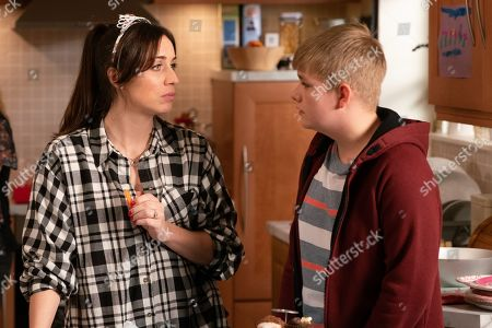 Ep 9855 Friday 23rd August 2019 - 1st Ep It's Lily's birthday party and Shona Ramsey, as played by Julia Goulding, has to tell Max, as played by Harry McDermott, off for playing up.
