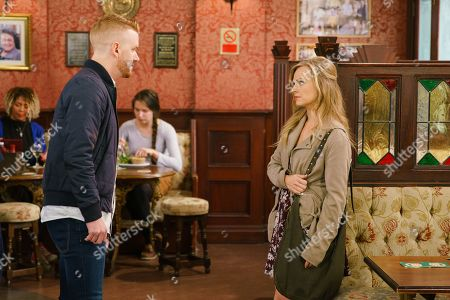Ep 9845 Monday 12th August 2019 - 1st Ep Gary Windass, as played by Mikey North, employs Ed to oversee the rebuild of the factory and gives Seb Franklin a job as a labourer. Adam tells Sarah Platt, as played by Tina O'Brien, that Derek has been involved a few dodgy business schemes that have gone bust but when she confronts Gary he threatens to pull the plug on the whole deal.
