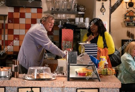 Ep 9855 Friday 23rd August 2019 - 1st Ep With Roy Cropper, as played by David Neilson, run off his feet, Aggie Bailey, as played by Lorna Laidlaw, offers up her services. Roy agrees to give her a trial.