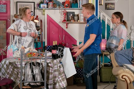 Ep 9847 Wednesday 14th August 2019 - 1st Ep Chesney Brown, as played by Sam Brown, and Gemma Winter, as played by Dolly-Rose Campbell, are furious when a parking fine arrives for Bernie.